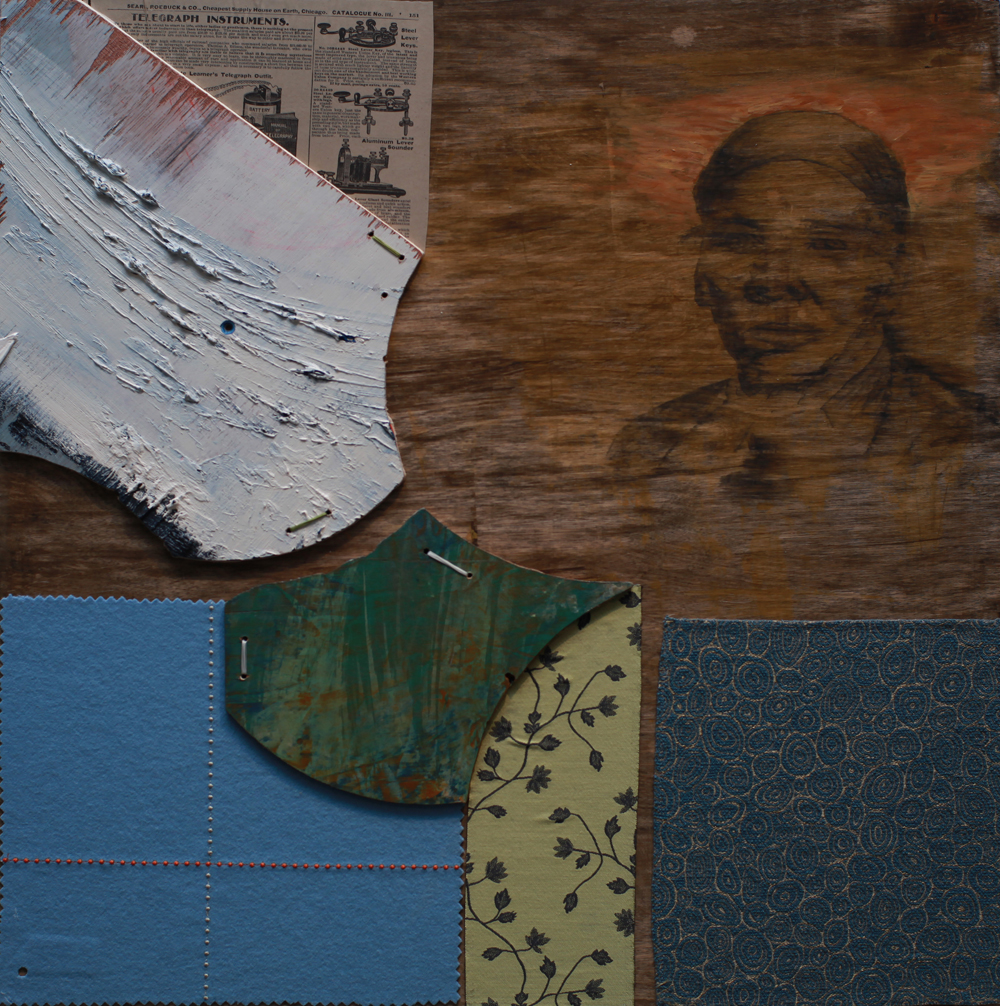 "David McConnell, ""Harriet Tubman"", 2014, 24 x 24 inches, (Mixed Media on Panel)"
